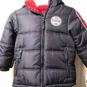 Oshkosh Winter Puffer Jacket With Soft Hood M NWT
